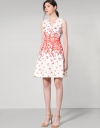 Placement Floral Printed A-Line Dress