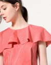 Asymmetric Cape Top With Peplum