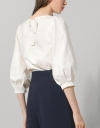 Puff Sleeved Boat Neck Top