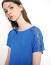 Boat Neck T-Shirt With Lace Trim