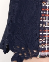Tweed Dress With Contrast Lace Sleeves