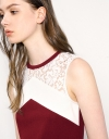 Contrast Lace Panelled Shift Dress