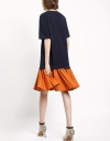 Drop Waisted Dress With Pleated Skirt