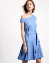 One Shouldered Dress With Flare Skirt