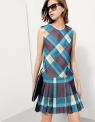 Drop-Waist Dress In Checks