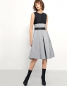 Colorblock Midi Jacquard Dress