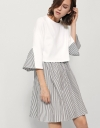 T-Shirt Dress With Stripe Panel