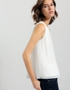 Pleated Top With Back Slit