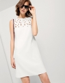Sheath Dress With Embroidered Panel