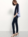 A-line Top With Contrast Stripe Back