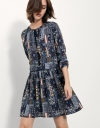 Bohemian Handkerchief Print Dress