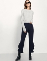 Ruffled Flare Trousers