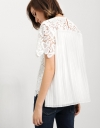 Lace Top With Pleated Back Detail