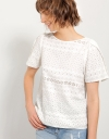 White Cotton V-neck Top