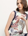 Floral  Lace Overlay Shift Dress
