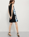 Dress In Jacquard With Floral Appliqué