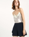 Lace-trimmed Silk Cami Top
