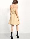 Sleeveless Button-up Trench Dress