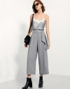 Tie-waist Wide-leg Trousers