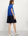 Dress With Contrast Skirt& Front Pockets