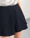 High-waist Shorts With Ruffle Front