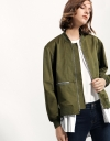 Bomber Jacket With Inner Shirt Overlay