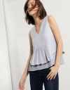 V-neck Top With Frontal Pleat detail
