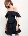 Strappy Dress With Ruffled Tier Skirt