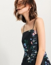 Strappy Fit-Flare Dress In Floral Print