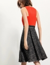 Dress With Asymmetric Textured Skirt