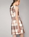 Shift Dress With Side Panel In Tartan