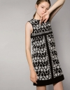 Panelled Shift Dress In Guipure Lace