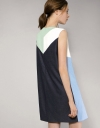 Shift Dress With Geometric Contrast Panelling