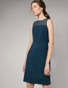 Panelled Lace Boat Neck Dress