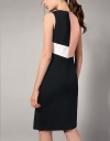 Geometric Color-block Fitted Dress