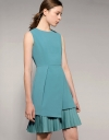 Asymmetric Pleated Hemline Dress