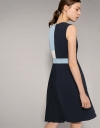 Mondrian Panelling Dress With Pleated Skirt
