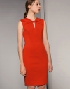Knotted Neckline Fitted Dress