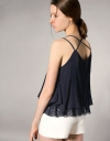 Strappy Top With Lace Underlay