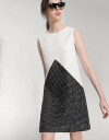 Triangle Color-block Shift Dress