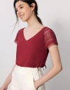 Lace Raglan Sleeve Top