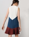 Tri-colored Panelled Dress