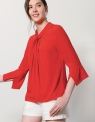 Twist Tie Neckline Top