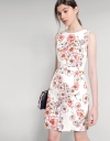 Floral Dress With Wrap-Around Waist Panel