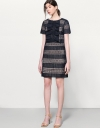 Guipure Lace Dress With Fronted Ruffles