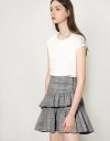 Gathered Checked Skirt