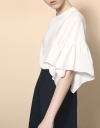 Gathered Wide Sleeve Top