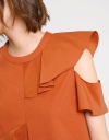 Asymmetric Ruffled Peplum Top