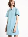 Butterfly Sleeve Shift Dress With Collar