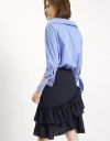 Asymmetric Gathered Panel Skirt